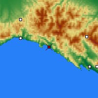 Nearby Forecast Locations - Chiavari - Mapa