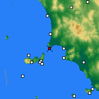 Nearby Forecast Locations - Piombino - Mapa