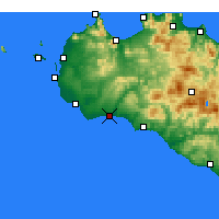 Nearby Forecast Locations - Marinella di Selinunte - Mapa