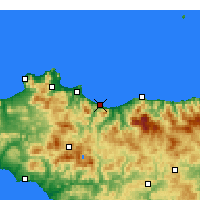 Nearby Forecast Locations - Termini Imerese - Mapa