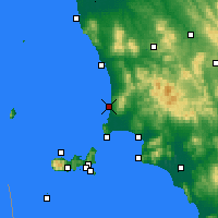 Nearby Forecast Locations - San Vincenzo - Mapa