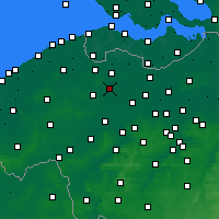 Nearby Forecast Locations - Zomergem - Mapa