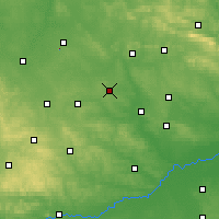 Nearby Forecast Locations - Jędrzejów - Mapa