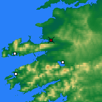 Nearby Forecast Locations - Tralee - Mapa