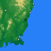 Nearby Forecast Locations - Gorey - Mapa
