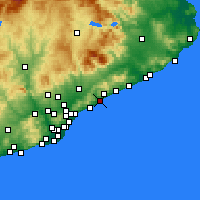 Nearby Forecast Locations - Mataró - Mapa