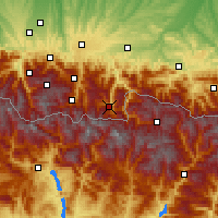 Nearby Forecast Locations - Bagnères-de-Luchon - Mapa