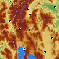 Nearby Forecast Locations - Kičevo - Mapa