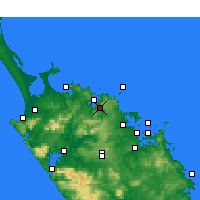 Nearby Forecast Locations - Kaeo - Mapa