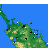 Nearby Forecast Locations - Whangaroa - Mapa