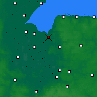 Nearby Forecast Locations - King's Lynn - Mapa