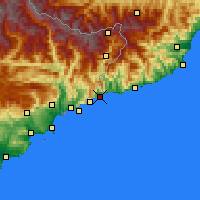 Nearby Forecast Locations - Menton - Mapa