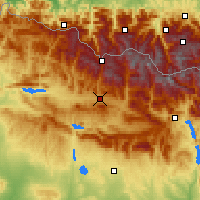 Nearby Forecast Locations - Jaca - Mapa