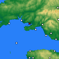 Nearby Forecast Locations - Llanelli - Mapa