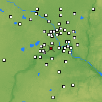 Nearby Forecast Locations - Edina - Mapa