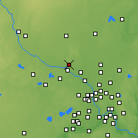 Nearby Forecast Locations - Elk River - Mapa