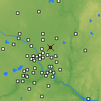 Nearby Forecast Locations - Lino Lakes - Mapa