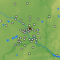 Nearby Forecast Locations - Mounds View - Mapa