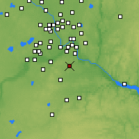 Nearby Forecast Locations - Rosemount - Mapa