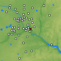 Nearby Forecast Locations - South St. Paul - Mapa
