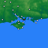 Nearby Forecast Locations - Gosport - Mapa