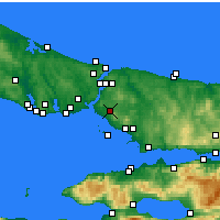 Nearby Forecast Locations - Ataşehir - Mapa