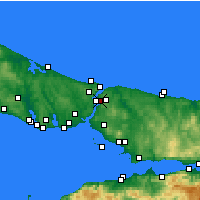 Nearby Forecast Locations - Beykoz - Mapa