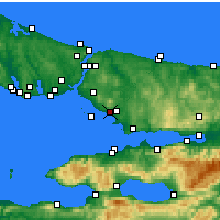 Nearby Forecast Locations - Pendik - Mapa