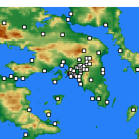 Nearby Forecast Locations - Keratsini - Mapa