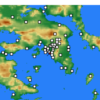 Nearby Forecast Locations - Nea Smirni - Mapa