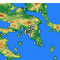 Nearby Forecast Locations - Zografou - Mapa