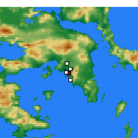 Nearby Forecast Locations - Agios Dimitrios - Mapa