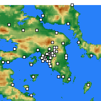 Nearby Forecast Locations - Irakleio - Mapa