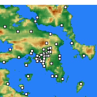 Nearby Forecast Locations - Kifisia - Mapa