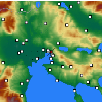 Nearby Forecast Locations - Polichni - Mapa