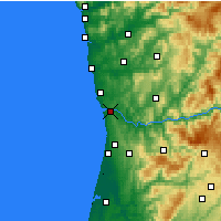 Nearby Forecast Locations - Vila Nova de Gaia - Mapa