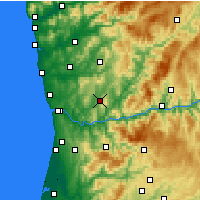 Nearby Forecast Locations - Penafiel - Mapa