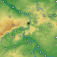 Nearby Forecast Locations - Děčín - Mapa