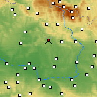 Nearby Forecast Locations - Jičín - Mapa