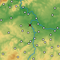 Nearby Forecast Locations - Kralupy nad Vltavou - Mapa