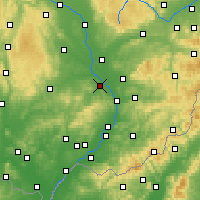 Nearby Forecast Locations - Kroměříž - Mapa