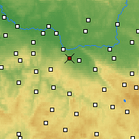 Nearby Forecast Locations - Kutná Hora - Mapa