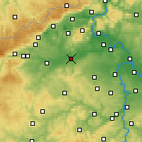 Nearby Forecast Locations - Louny - Mapa