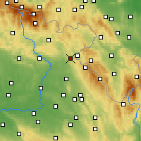 Nearby Forecast Locations - Náchod - Mapa