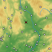 Nearby Forecast Locations - Prostějov - Mapa
