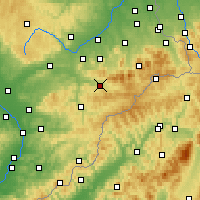 Nearby Forecast Locations - Rožnov pod Radhoštěm - Mapa
