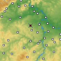 Nearby Forecast Locations - Slaný - Mapa