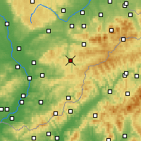 Nearby Forecast Locations - Vsetín - Mapa