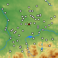 Nearby Forecast Locations - Łaziska Górne - Mapa