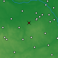 Nearby Forecast Locations - Żyrardów - Mapa